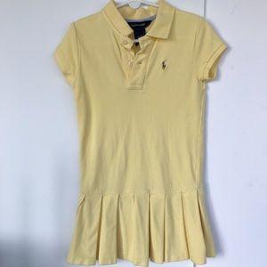 Ralph Lauren yellow polo shirt dress size 6